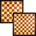 Dam- en Schaakbord 49.5 x 49.5 cm