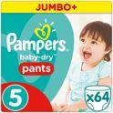 Pampers Baby-Dry Pants Luierbroekjes Maat 5 (Large) 12-18 kg - 64 Stuks - Luiers
