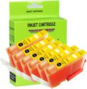 6 Pack Compatible Canon CLI-521 Y*6 inktcartridges, 6 pak. 6 geel,