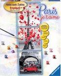 Ravensburger schilderen op nummer Paris, je t'aime