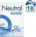 Neutral 0% Wit Parfumvrij Waspoeder - 1,188 kg - Wasmiddel