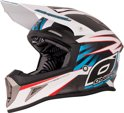O'Neal Crosshelm 10 Series Carbon Hangtown White/Blue/Red 647