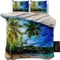 Sleeptime Beach Life - Dekbedovertrekset - Tweepersoons - 200x200/220 cm + 2 kussenslopen 60x70 cm - Blauw