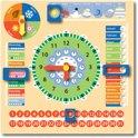 New Classic Toys - Kalenderklok - Hout