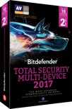 Bitdefender Total Security Multi-Device 2017 - Nederlands / Frans - 10 Apparaten - 2 Jaar - Windows / Mac / Android