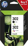HP 302 - Inktcartridge / Zwart / Kleur / Dual-Pack