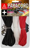 Paracord Set - Special Collection (Zwart / Wit / Rood)