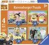 Ravensburger Despicable Me 3 Minion Fail. Vier puzzels - 12+16+20+24 stukjes - kinderpuzzel