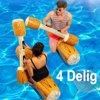 NIEUW ZWEMBAD SPEL - 4 delig - Opblaasbaar Boomstam Steekspel / Duwspel - Pool Game Outdoor - Strand en Zwembad Spel - 115 x 30 cm - Set 4 delen - Kindervermaak Zwembad - tot 80kg