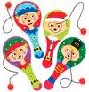 Batje met bal met feestelijke stokstaartjes (5 stuks per verpakking) Batje met bal Voor in cadeautasjes en als vulling voor kerstsokken voor kinderen