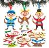 Mix & match decoratiesets feestelijke stokstaartjes (6 stuks per verpakking) Kerstknutselwerkjes en -decoraties voor kinderen