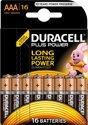 Duracell AAA Plus Power Alkaline Batterijen - 16 stuks