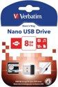 Verbatim Store'n'Stay NANO 8GB - USB-Stick / Zwart