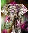 Gekleurde olifant 1