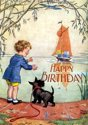 Afbeelding van het spelletje Boy and Scottie Dog Awaiting Birthday Boat Birthday Greeting Cards [With Envelope]