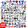 100 Stickers Mix | Auto, Skateboard, Scooter, Laptop of Muur | ST12
