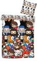 Harry Potter Emoji's - Dekbedovertrek - Eenpersoons - 140 x 200 cm - Multi
