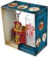 HARRY POTTER - Cadeauset - Glas 29cl + sleutelhanger + Mini Mok - Gryffindor