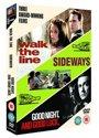Three Award-Winning Films -      Walk the Line + Sideways + Goodnight, and Good Luck