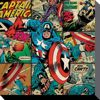 MARVEL COMICS - Canvas 40X40 - Captain America Squares