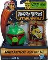 Angry Birds& Star Wars Power Battlers Boba Fett Pig â?? 6x5x5cm | Schietspeelgoed voor Kinderen | Zelfrijdende Poppetjes