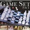 Afbeelding van het spelletje Glazen spellenset (3-in-1)