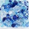 Facetkralen mix, afm 4-12 mm, blauw harmonie, 250 gr, circa 860