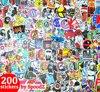 Stickers 200 stuks | Auto laptopstickers skateboard | ST02
