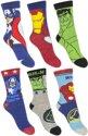6 paar sokken van Marvel Avengers maat 23-26