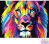 Gekleurde Leeuw 30x40cm