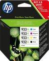 HP 932XL / 933XL - Inktcartridge / Zwart / Kleur / Hoge Capaciteit / 4-Pack (C2P42AE)