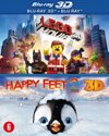 The LEGO Movie + Movie Happy Feet 2 (3D + 2D Blu-ray)