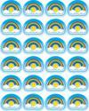 Afbeelding van het spelletje Rainbows Shape Stickers