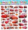 Vier Stickervellen 2x CARS + 2x Frozen - Ca. 50 Stickers - Bubble 3D Stickers