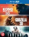 Godzilla + Kong+ Tarzan Box (3D + 2D Blu-ray)