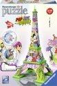 Ravensburger Eiffel tower Pop Art - 3D Puzzel gebouw van 216 stukjes