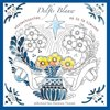 Delfts Blauw winterkaarten om in te kleuren