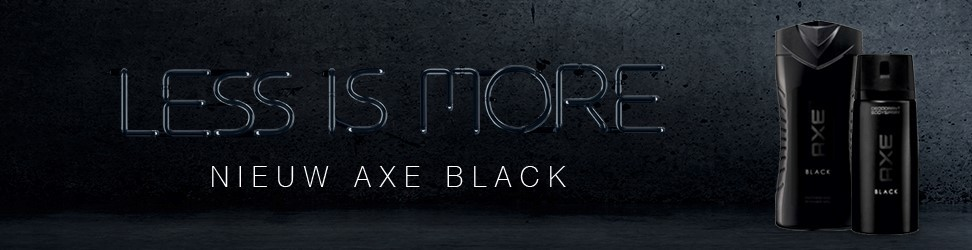 Less is more. Axe Black