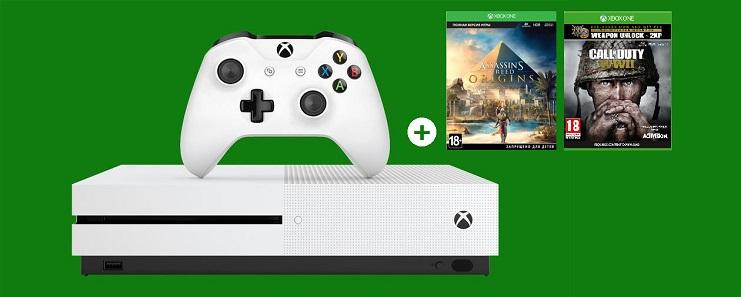 Xbox One S + 2 topgames