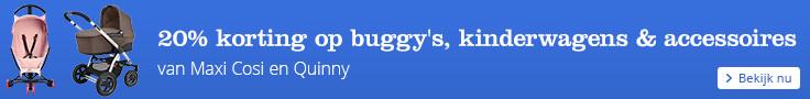20% korting op Maxi Cosi en Quinny buggys & kinderwagens