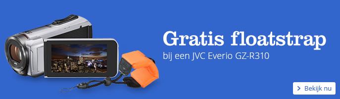 Gratis floatstrap bij een JVC Everio GZ-R310