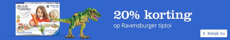 20% korting op Ravensburger tiptoi