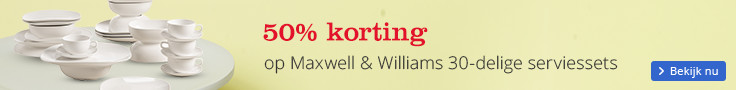 50% korting op Maxwell & Williams 30-delige serviessets
