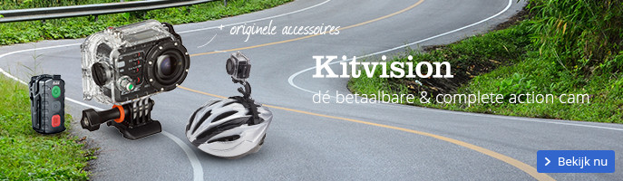 Kitvision dé betaalbare & complete action cam