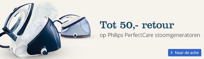 Tot 50,- retour op Philips PerfectCare stoomgeneratoren