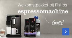 Gratis welkomstpakket | bij Philips espressomachines