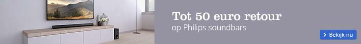 Tot 50 euro retour op Philips soundbars