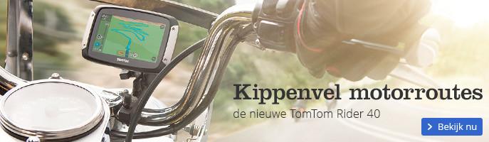 Kippenvel motorroutes de nieuwe TomTom Rider 40