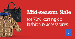 Tot 70% korting op  fashion & accessoires