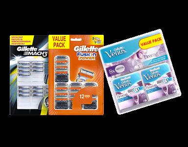 Tot 35% korting op Gillette grootverpakkingen